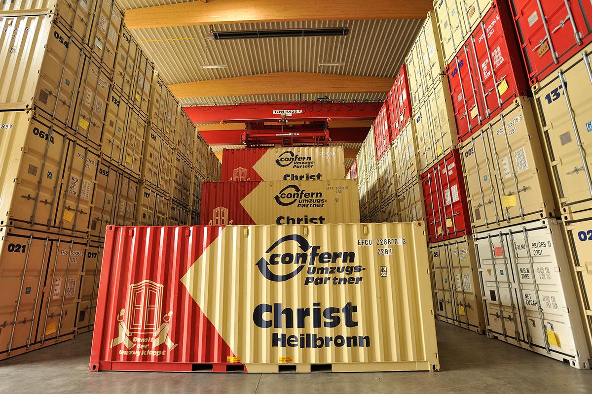 einlagerung self storage in stuttgart christ logistik. Black Bedroom Furniture Sets. Home Design Ideas