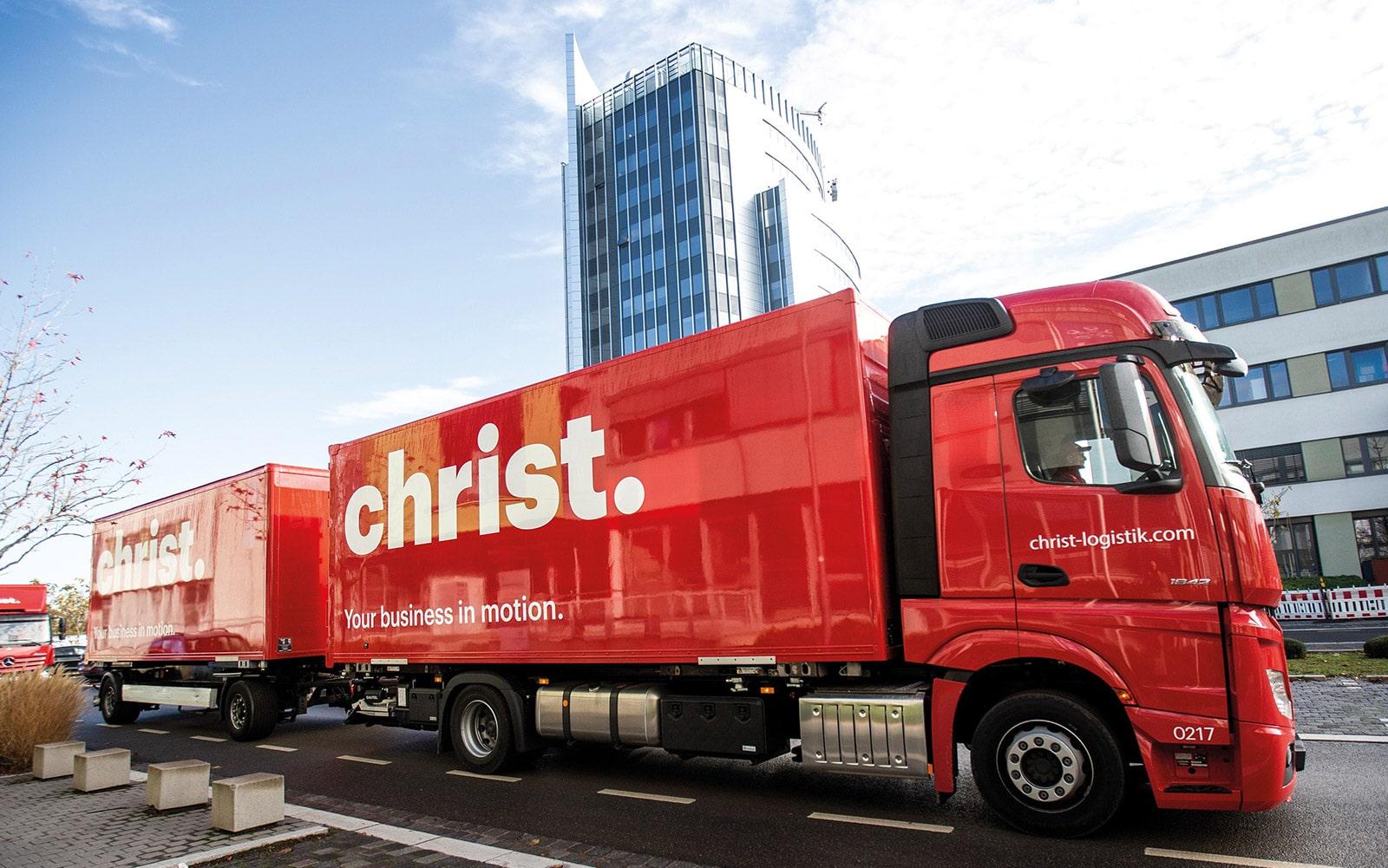 Christ Logistik Lastwagen für Umzüge